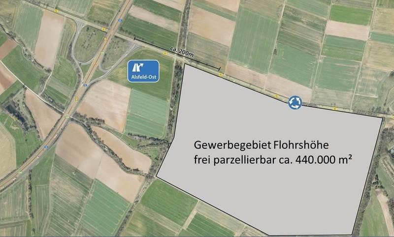 Industrie- und Gewerbegebiet »B62/Flohrshöhe Alsfeld«