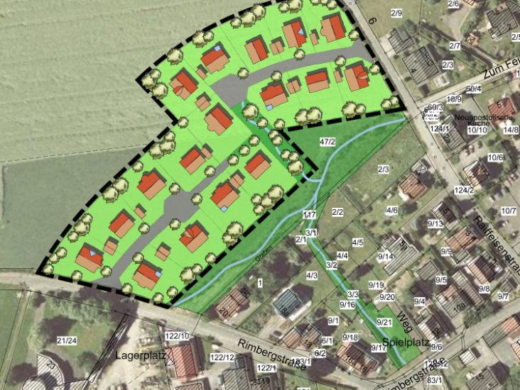 Wohngebiet »Herrliches naturnahes Baugrundstück in Lahntal-Caldern«