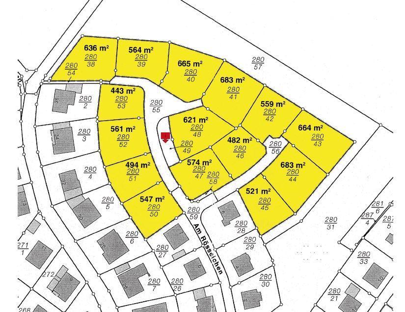 Bauplatz Nr. 280/42 im Wohngebiet Am Rösselchen