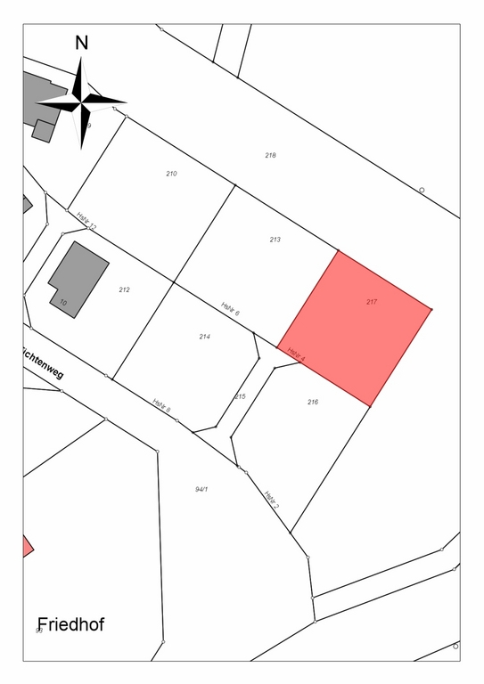Bauplatz Nr. 217 im Wohngebiet Fichtenweg Rohnstadt