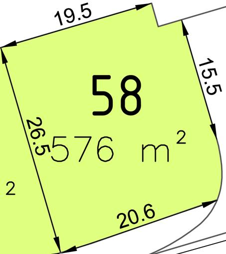 Bauplatz Nr. 58 im Wohngebiet Waldstraße III