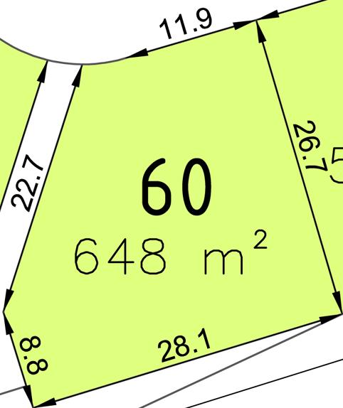 Bauplatz Nr. 60 im Wohngebiet Waldstraße III