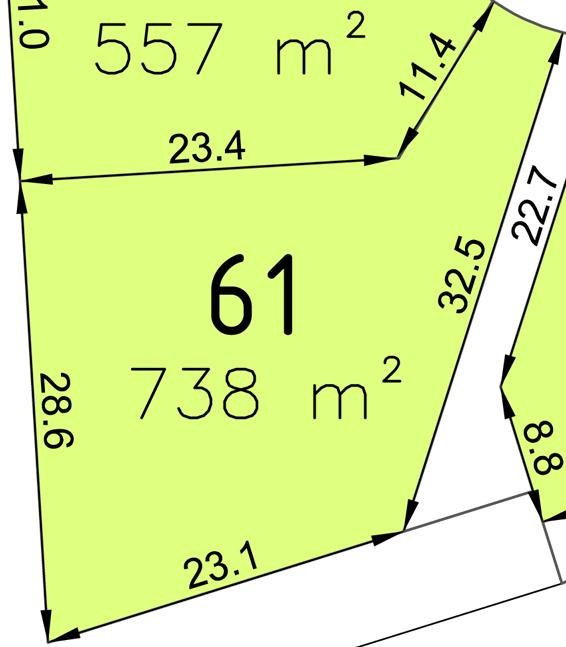 Bauplatz Nr. 61 im Wohngebiet Waldstraße III