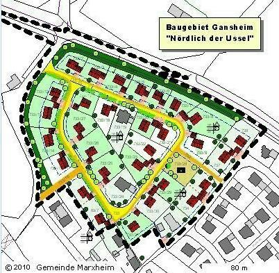 Wohngebiet »Nördlich der Ussel in Gansheim«