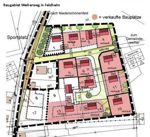Wohngebiet »Weiherweg in Feldheim«