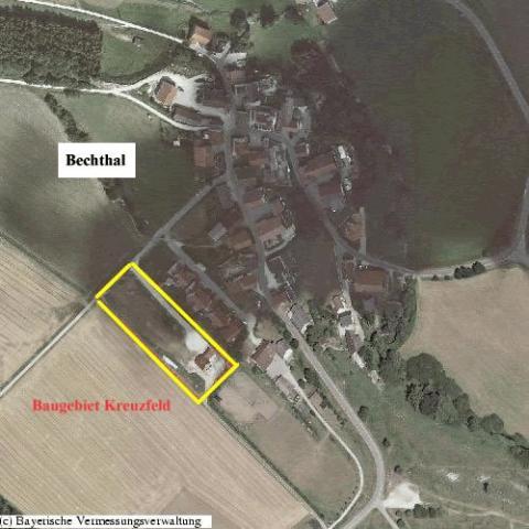 Wohngebiet »Am Kreuzfeld II im Gemeindeteil Bechthal«