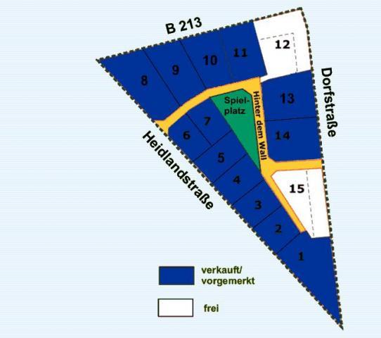 Wohngebiet »Hinter dem Wall (OT Kneheim)«