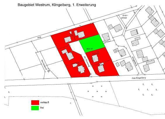 Wohngebiet »Westrum - Klingelberg 1. Erweiterung«