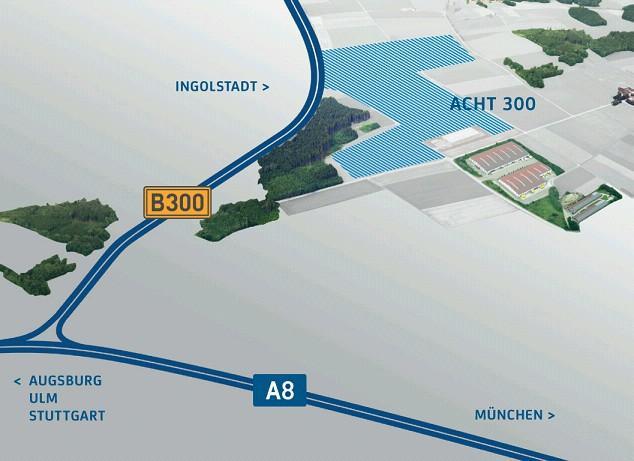 Gewerbegebiet »Acht 300 Gewerbepark Aichnach Dasing«