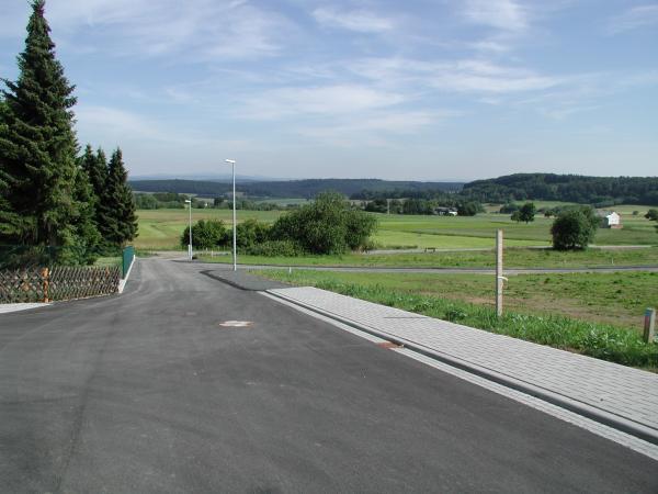 Zufahrt zum Baugebiet