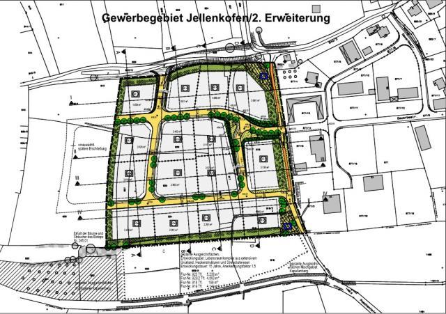 Gewerbegebiet »Gewerbegebiet Jellenkofen 2. Erweiterung«