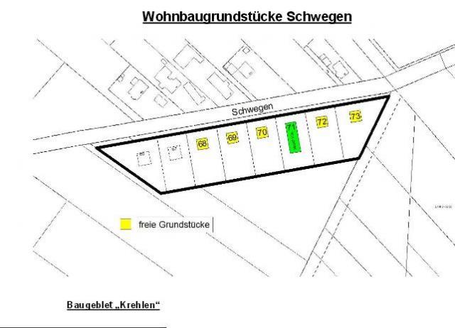 Wohngebiet »Baugebiet Krehlen, OT Schwegen«