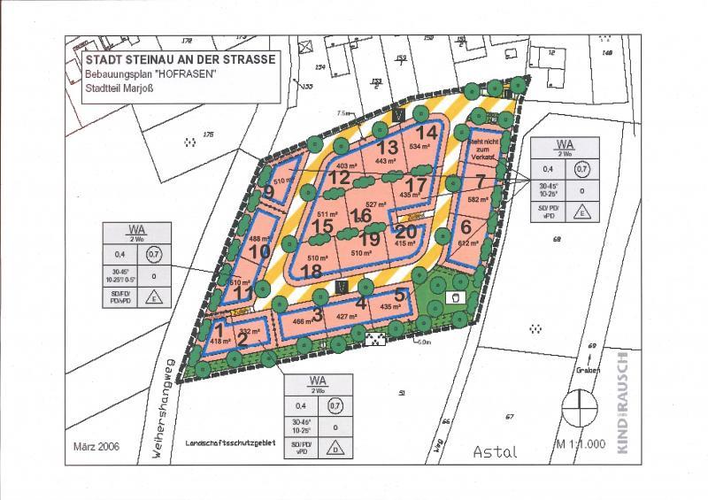Bauplatz Nr. 17 im Wohngebiet Hofrasen