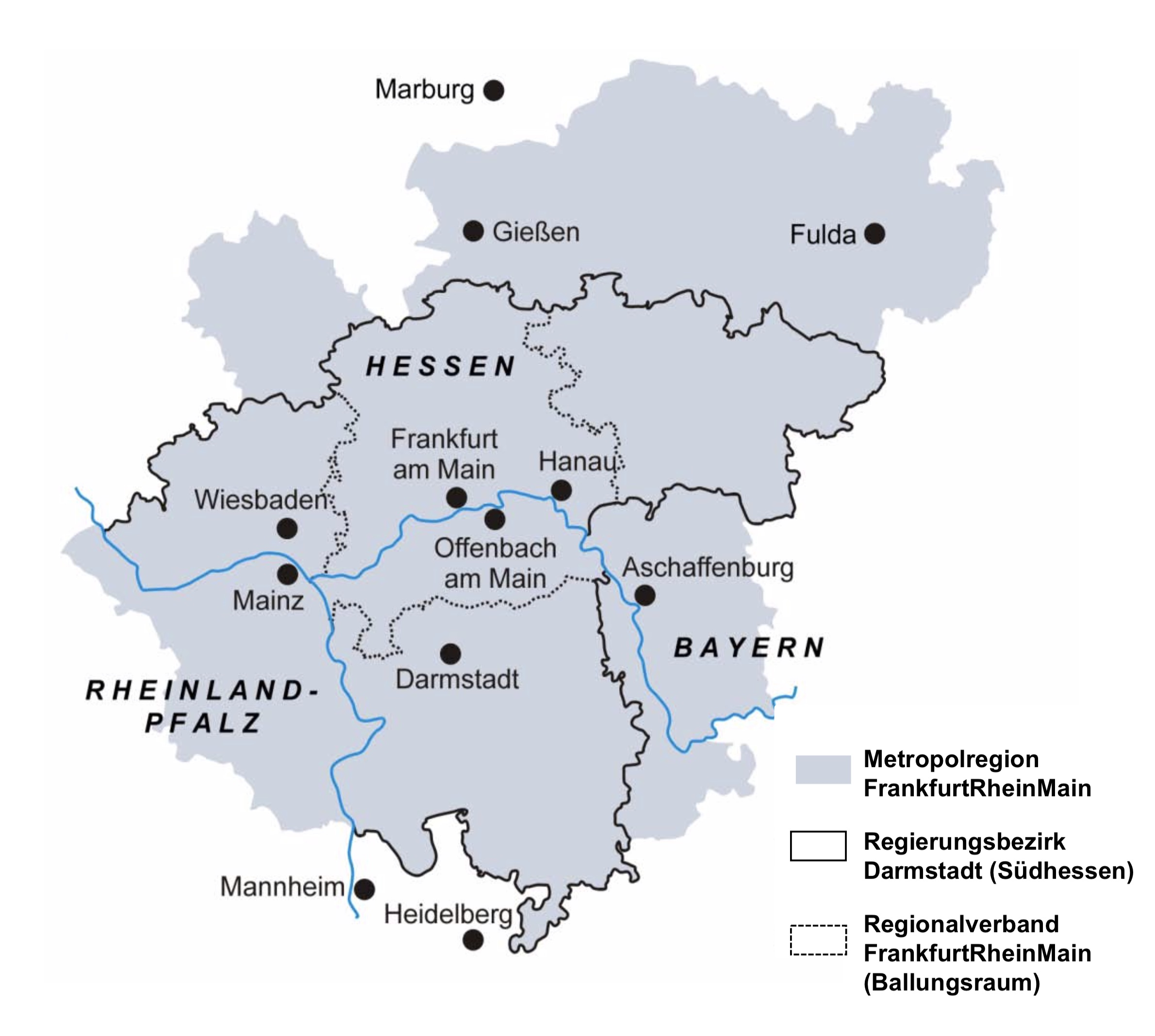 Ausdehnung der Metropolregion