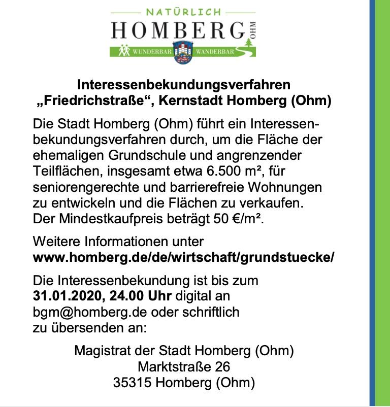 Interessenbekundungsverfahren Friedrichstraße