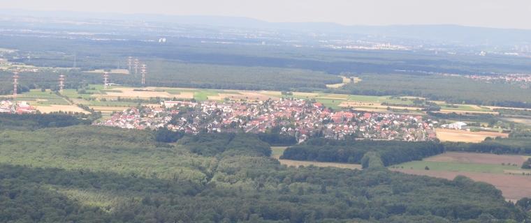 Luftaufnahme von Erzhausen