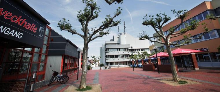 Blick auf den Rathausplatz