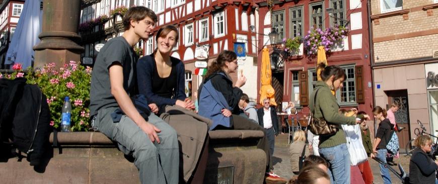 Junge Stadt mit Historie