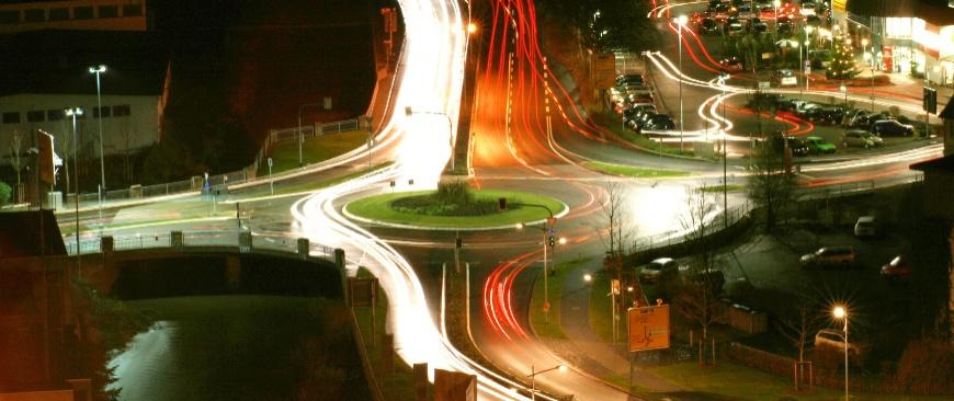 Nordportal bei Nacht; Foto: Benjamin Neef