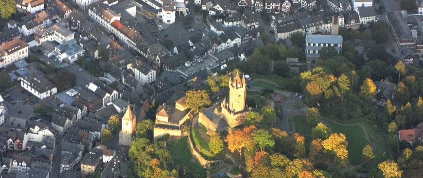 Luftbild Schlossberg; Foto: Helmut Menz