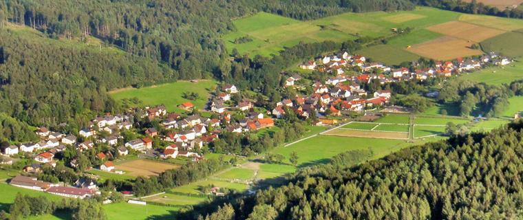Blick über den Stadtteil Weilers