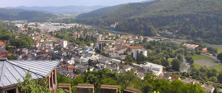 Biedenkopf: vom Schloss bis zum GewerbegebietBlick ins obere Lahntal