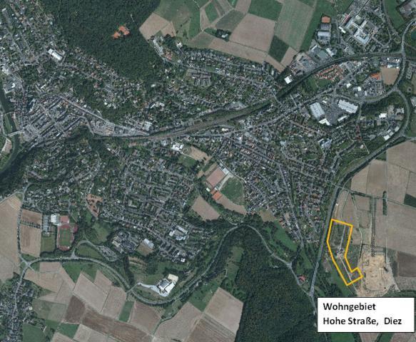 Bauplätze im Wohngebiet Hohe Straße II in Diez/Lahn