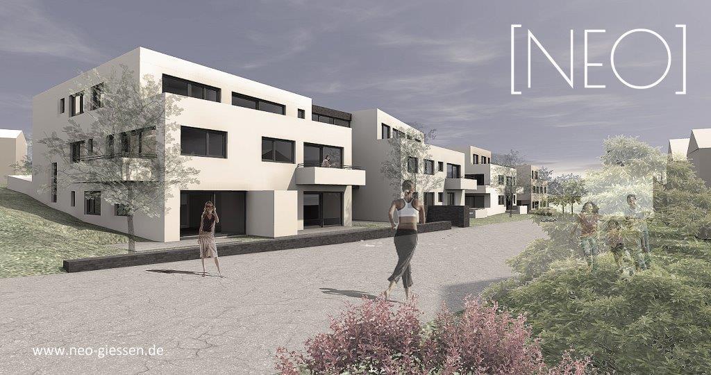 NEO - Moderne Neubauwohnung in ruhiger, naturnaher Stadtrandlage von Gießen
