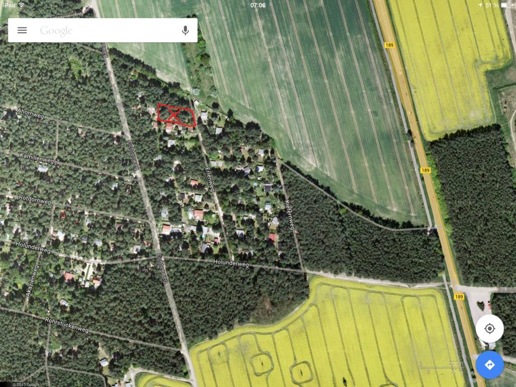 1400 qm Grundstück Lindhorst Balzer Siedling