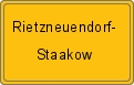 Wappen Rietzneuendorf-Staakow