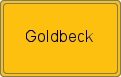 Ortsschild Goldbeck