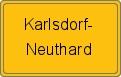 Wappen Karlsdorf-Neuthard