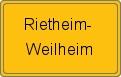 Wappen Rietheim-Weilheim