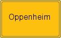 Ortsschild Oppenheim