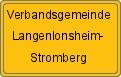 Ortsschild der Verbandsgemeinde Langenlonsheim