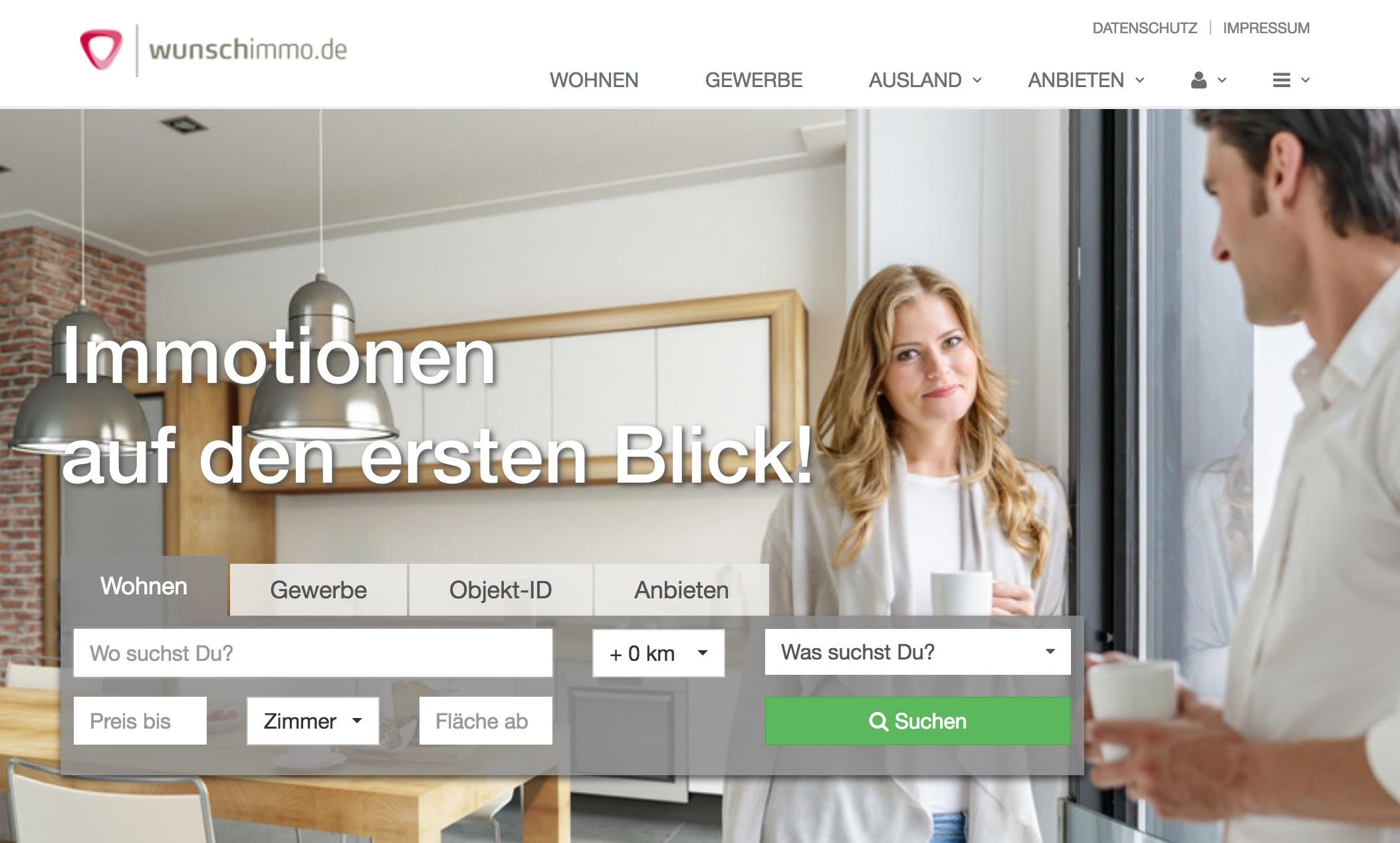 Wunschimmo.de: Häuser, Wohnungen, Grundstücke Finden